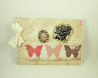 Butterflies Handmade Scrapbook or Photo Album, Butterfly Memory Book, Photograph Album, Scrapbooking, Art Journaling, Mixed Media Book