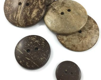 LIMITED QUANTITY, Coconut shell buttons,