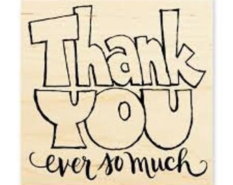 Thank You Stamp, Stampendous, Great Big Thanks, Rubber Stamp, Card Making, Paper Craft