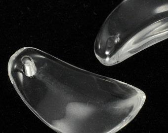 25mm Clear Petal Pendant #1827