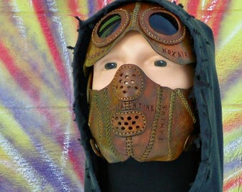 Word Leather Mask Seeker Truth Burning Man Wasteland Weekend Dystopia Rising Borderlands Post Apocalyptic Survivor