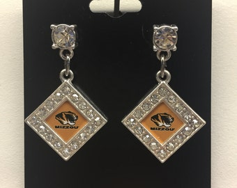 Missouri tigers diamond studded earring new.