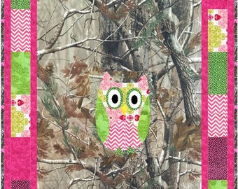 Baby Owl Camo Quilt Pattern