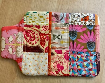 Patchwork Hot Water Bottle Cover, Cozy Cover or Bed Warmer Cover