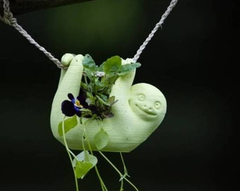 Hanging Baby Sloth Planter, Succulent Planter, Air Planter Many Colors