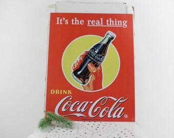 Vintage metal sign billboard advertising billboard Coca Cola gas station sign vintage