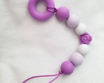 Purple ombre paci-teething ring