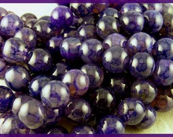 Dark Purple Dragon Veins Agate - GM302