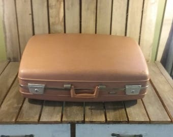 Old Large Suitcase With Key