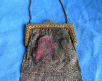 Antique Whiting & Davis 1920's mesh handbag