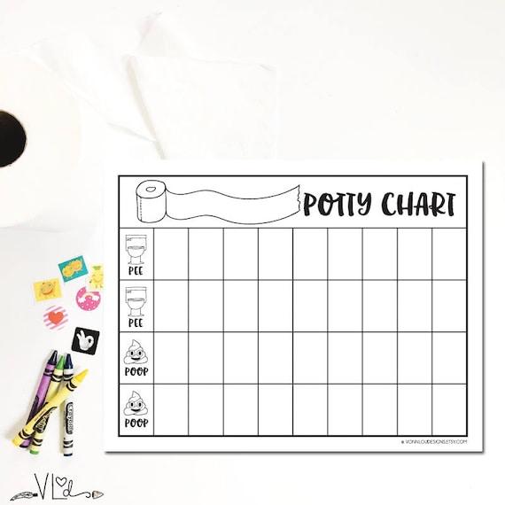 potty chart potty training reward card big boy potty chart
