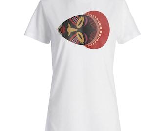 NEW African masks ethnic Ladies T-shirt i797f