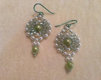 PATTERN Mini Super Duo Earrings 2 hole