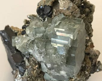 Big Apatite Cluster on Matrix from Panasqueria Portugal