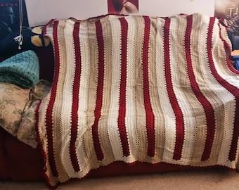 Striped Crocheted Afghan
