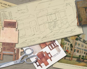 1916 - Paper Doll House Plans and Furniture - The Mary Frances Housekeeper - Instant Digital Download