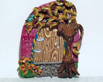 Fairy Door, Pixie Door, Elf Door Uniquely Handmade from Polymer Clay