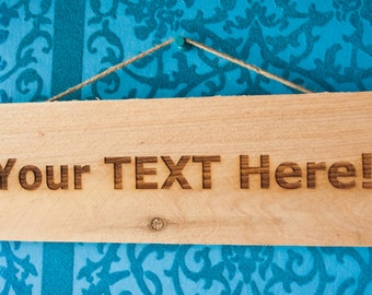 Engraved wood sign | Etsy