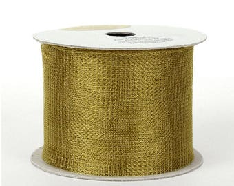 """Knit Wire Mesh Tubing 'Trikotine' - Fine Gauge Knitted Metallic Tube Netting in Gold, Silver or Copper - Made in Germany, 2-1/4"""" x 16 ft."""