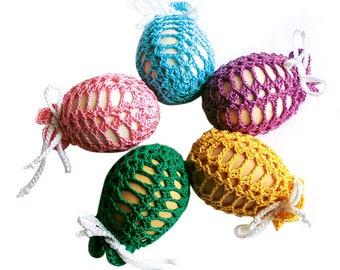 Crochet Easter Egg Cover  Set of 5 Hand Crocheted Easter Eggs Easter Decoration