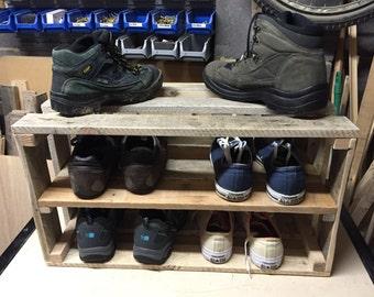 Rustic Shoe Storage Crate