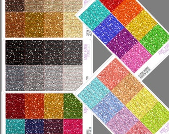 Glitter Header Stickers