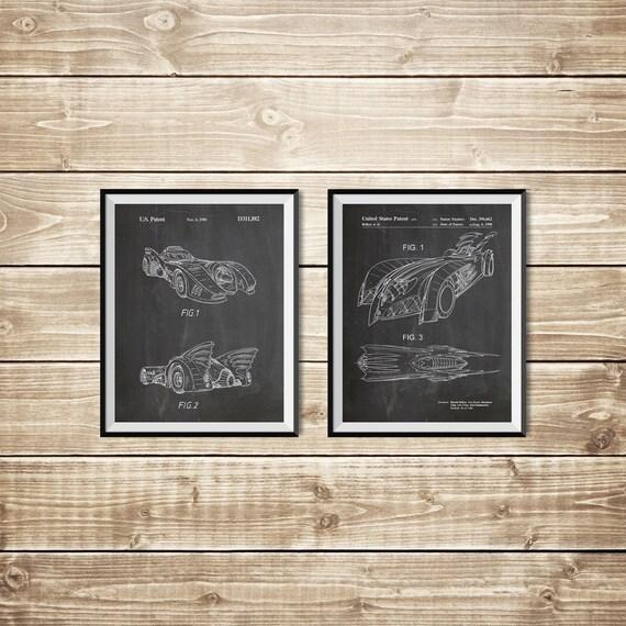 Batman blueprint patent print group batman art posters batman blueprint patent print group batman art posters batman posters patent print setbatman printablebatwing poster instant download malvernweather Image collections