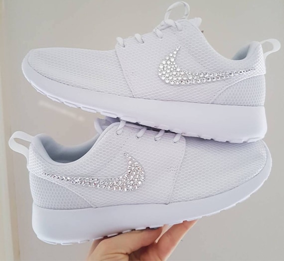 Roshe Encrusted Crystal Women's Bling One With Nike Shoes Crystals Swarovski Swarovski qR1wgHwy