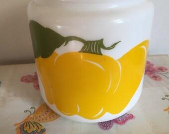Vintage milkglass canister jar
