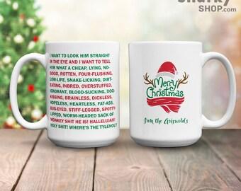 Clark Griswold Rant Merry Christmas Mug, 15oz Mug