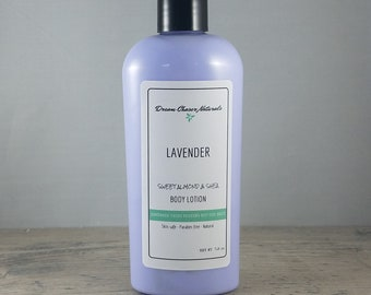 Lavender Lotion, Almond Lotion, Natural Lotion, Creamy Lotion, Moisturizing Lotion, Handcrafted Lotion, Body Lotion, Vegan Lotion, Lavender