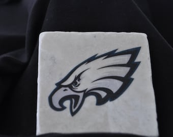 Philadelphia Eagle Coasters Set of 4 handcrafted