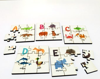 A-Z Animals Puzzle for Kids | Alphabet Educational Menagerie