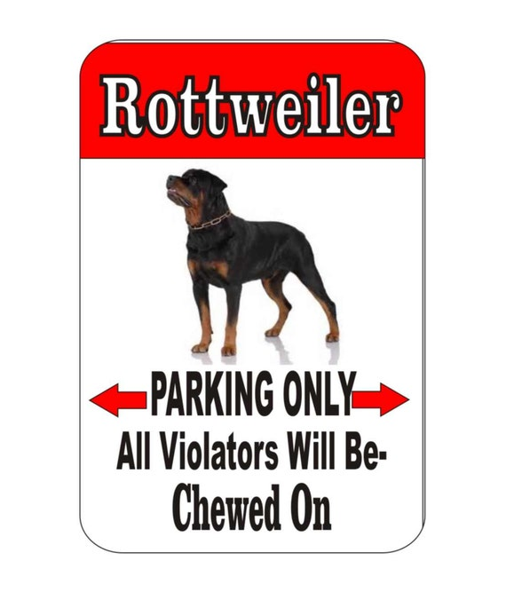 rottweiler sign, yard sign, custom sign, garage sign, driveway sign, indoor/outdoor sign, dog sign, metal sign, funny metal sign