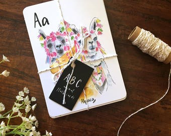 A-Z Animal Alphabet Flash Cards, ABC flash cards, Animal cards, Woodland Alphabet, Watercolour Alphabet, Baby Nursery Alphabet Educational