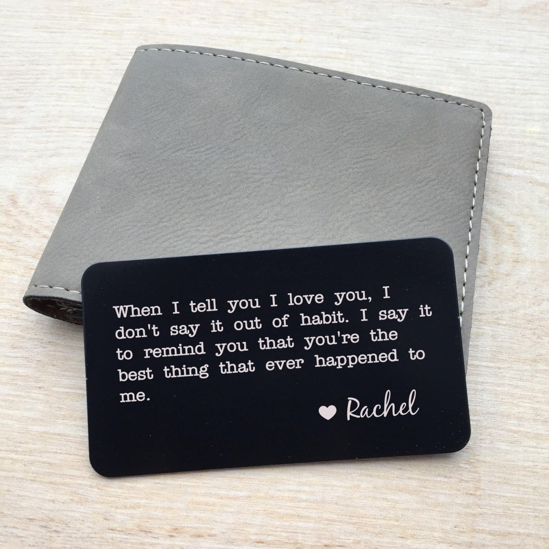 Personalized wallet card, Custom wallet card, Laser engraved wallet ...