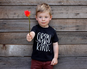 Unisex Grow Up Kind Baby Tee Shirt Kids Fashion Words to Live by World Changer Be Kind Tee Shirt 6MO 12MO 18MO 24MO