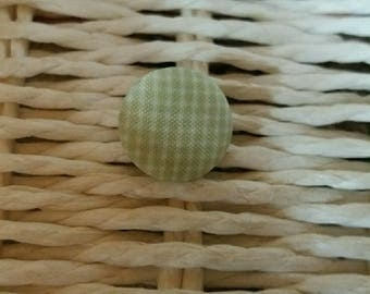 1 beautiful green checkered fabric