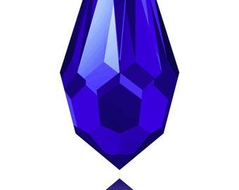 Swarovski Crystal - 6000 Tear Drop Top Drilled - Majestic Blue 11 x 5.5mm