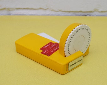 Vintage Label Maker, Yellow Label Machine, 1980's Label Maker, Yellow Plastic Label Maker, Vintage Stationery, Retro Office Supplies
