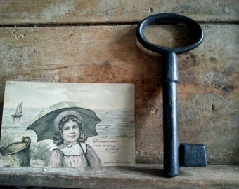 Antique French barn or castle key