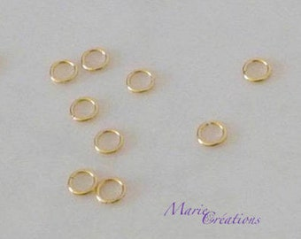 4 X 0.60 mm - basic stainless steel gold plated rings