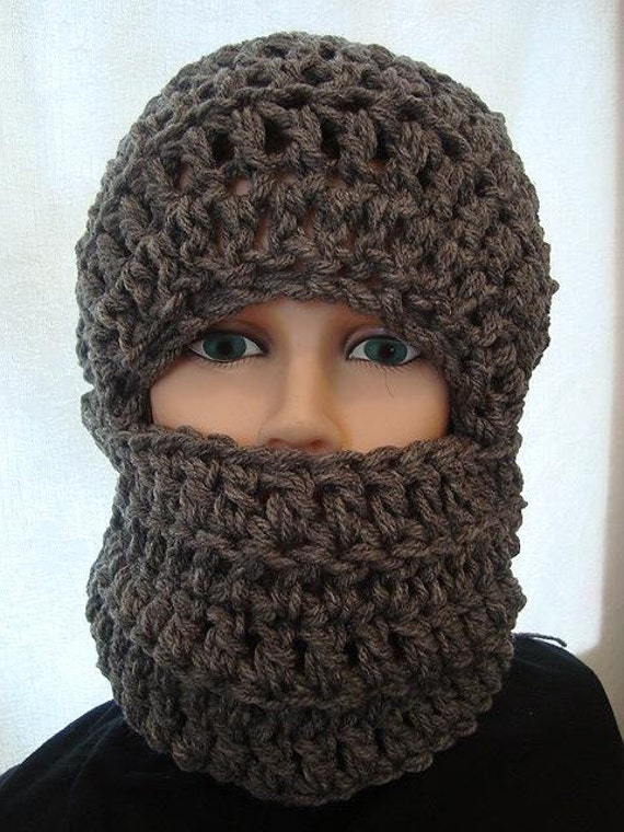 Hat Crochet Pattern Ski Mask Unisex Chunky Style Winter Hat