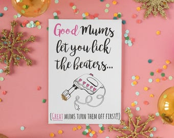 Funny Baking Mothers Day Card