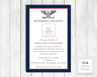 Army Retirement Invitation, Printable Army Retirement Invitation, Military Invitation, Military Retirement Party Invitation