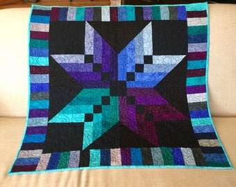 Quilted Star Wall Hanging. Dimensions 39 inches by 39 inches