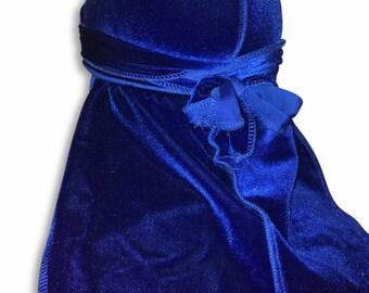 Blue Velvet Color Du-Rag -Premium Quality- Wave Cap-Durag