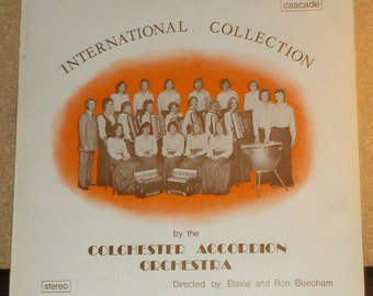 International Collection By the Colchester Accordion Orchestra UK Vinyl Record Album