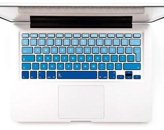Macbook decal navy Blue ombre stickers keyboard stickers Dell Macbook Decal Keyboard Sticker Macbok Air Pro Retina Lenovo # Navy Ombre