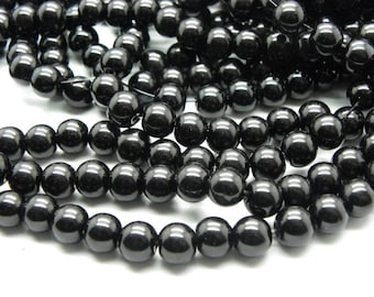 promo 100 beautiful black 8 mm without being mother of pearl beads